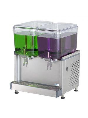 Crathco CS-2D-16 Simplicity Bubbler Series Premix Cold Beverage Dispenser (2) 4.75 gallon bowls