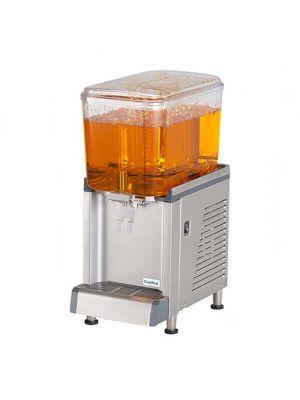 Crathco CS-1D-16 Simplicity Bubbler Series Single 4.75 Gallon Bowl Premix Cold Beverage Dispenser with Agitation Function