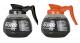 BUNN 64oz Commercial Coffee Decanters: One Black & One Orange