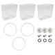 Crathco Triple Parts Kit: 5-Gallon Bowl 1288 (3-pack) & Preventative Maintenance Kit (3-pack)